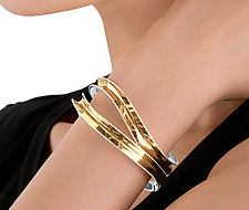 Parallel Weave Cuff by Nancy Linkin (Gold & Silver Cuff)