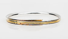 Wrapped Bangle by Nancy Linkin (Gold & Silver Bracelet)