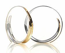 Sleek Hoops by Nancy Linkin (Gold & Silver Earrings)