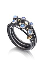 Vine Ring 2 by Christine Mackellar (Silver & Stone Ring)