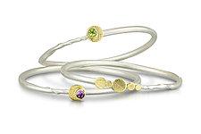 Simple Eclipse Bracelets by Christine Mackellar (Gold, Silver, & Stone Bracelet)