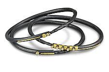 Circle Line Bracelets by Christine MacKellar (Gold, Silver & Stone Bracelet)