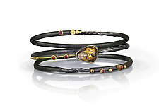 Rudens Bracelet Set by Christine Mackellar (Gold, Silver & Stone Bracelet)