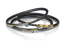 Once in a Blue Moon Bracelet Set by Christine Mackellar (Gold, Silver & Stone Bracelet)