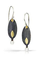 Simple Petal Earrings by Christine Mackellar (Gold, Silver & Pearl Earrings)