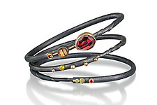 Regal Bracelet Set by Christine Mackellar (Gold, Silver & Stone Bracelet)