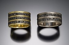 Wide Stripes by Robin Cust (Gold & Steel Wedding Band)