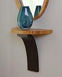 Half Moon Shelf by Richard Judd (Wood Demilune Shelf)