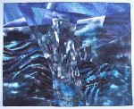 Central Park West Night II by Linda Levin (Fiber Wall Hanging)