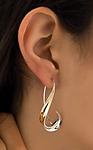 Long Hook Earrings by Nancy Linkin (Silver & Gold Earrings)