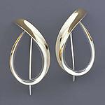 Flame Earrings by Nancy Linkin (Silver & Gold Earrings)