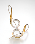Treble by Nancy Linkin (Silver & Bimetal Earrings)