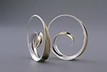 Spiral Earrings by Nancy Linkin (Silver & Gold Earrings)