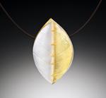 Simple Leaf Pendant by Christine Mackellar (Bimetal Necklace)