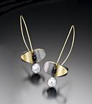 Butterfly Leaf Earrings by Christine Mackellar (Bimetal, Pearl & Stone Earrings)