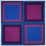 Labyrinth #8 by Ellen Oppenheimer (Fiber Wall Hanging)