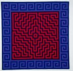 Labyrinth #10 by Ellen Oppenheimer (Fiber Wall Hanging)