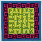 Labyrinth #12 by Ellen Oppenheimer (Fiber Wall Hanging)