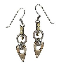 Saddle Circle Earrings by Thomas Mann (Mixed-Metal Earrings)
