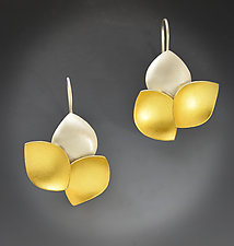 Petals Earrings by Judith Neugebauer (Gold & Silver Earrings)
