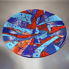 Barcelona Bowl #2 by Varda Avnisan (Art Glass Bowl)