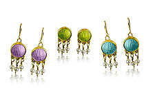Sea Swept Earrings by Nancy Troske (Enameled Earrings)