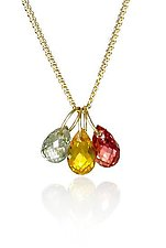 Sapphire Cluster Necklace by Sara Freedenfeld (Gold & Stone Necklace)