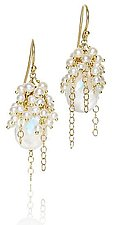 Small Whisper Cascade Earring by Sara Freedenfeld (Gold, Stone & Pearl Earrings)