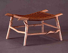 Twisted Stick Stool by David N. Ebner (Wood Bench)
