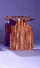 Renwick Stool by David N. Ebner (Wood Bench)