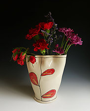 Leaf Finger Vase by Heidi Fahrenbacher (Ceramic Vase)