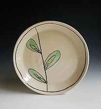 Leaf Design Dessert Plate by Heidi Fahrenbacher (Ceramic Plate)