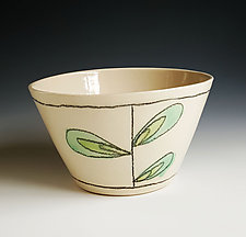 Leaf Design Bowl by Heidi Fahrenbacher (Ceramic Bowl)