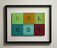 Alphabet Quilt Color Study Series 102 by Mark Thomas (Acrylic Painting)