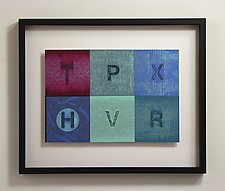 Alphabet Quilt Color Study Series 103 by Mark Thomas (Acrylic Painting)