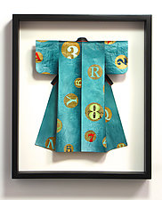 Blue Kimono by Mark Thomas (Fiber Wall Art)