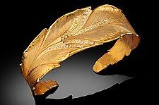 Banana Leaf Bracelet by Rosario Garcia (Gold & Stone Bracelet)