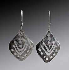 Silver Teardrop Earrings by John Siever (Silver Earrings)