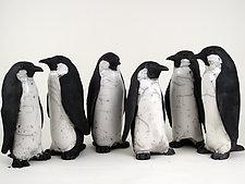 Penguins by Ronnie Gould (Ceramic Sculpture)