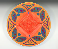 Mulberry Bush Small Platter by Rod  Hemming (Ceramic Platter)
