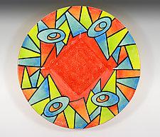 Deco Garden Small Platter by Rod  Hemming (Ceramic Platter)