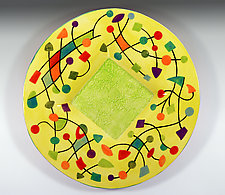 Abstract Small Platter by Rod  Hemming (Ceramic Platter)