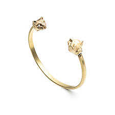 Angular Cat Cuff by Natalie Frigo (Brass Bracelet)