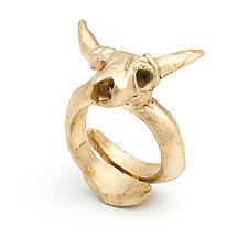 Cow Skull Ring by Natalie Frigo (Brass Ring)