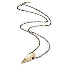 Largest Dagger Pendant by Natalie Frigo (Brass Necklace)