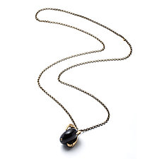 Large Claw and Black Lucite Necklace by Natalie Frigo (Jewelry Necklaces)