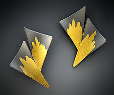 Starburst Earrings by Judith Neugebauer (Gold & Silver Earrings)