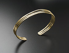 Hammered Cuff Bracelet in Gold by Randi Chervitz (Gold Bracelet)