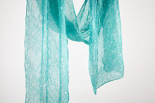 Silk Mist Chiffon Scarf in Blue by Yuh  Okano (Silk Scarf)