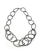 Eleanor Necklace by Megan Auman (Silver & Steel Necklace)